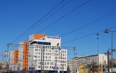 Technopolis Asemakeskuksessa hyödynnettiin laajasti Teräselementin julkisivuosaamista