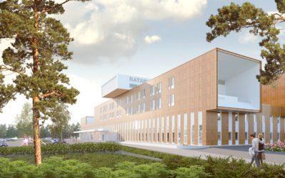 Toteutamme Ratamokeskukseen – Teräselementti toimittaa Kouvolan sairaalakeskukseen rankaelementti- ja alumiinilasiseinät