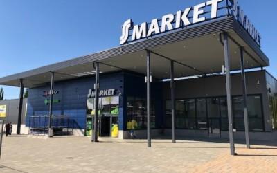 S-market Jukolan uudessa kiinteistössä Teräselementin teräsrunko